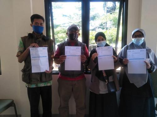 Kegiatan Vaksinasi Guru MTs - MA Al-Jihad