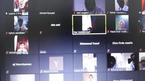 Pemilihan OSIS MPK via virtual zoom meeting